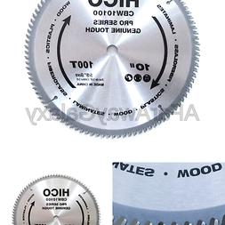 "HICO 10"" 100-Tooth ATB Miter Saw Blade Thin Kerf General Pur"