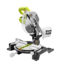 RYOBI 10 In Compound Miter Saw Electric Brake Laser Guide Co