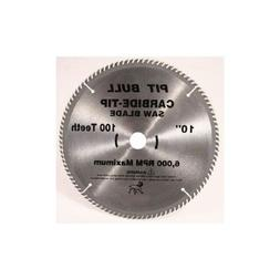 Pit Bull 10 Inch 100 Tooth Carbide Circular / Miter Saw Blad