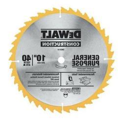 DEWALT 10 inch 40 Teeth General Purpose Circular Saw/ Table