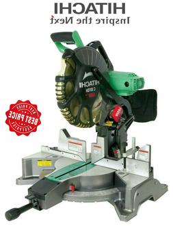 "HITACHI 12"" Dual Bevel Miter Saw Heavy Laser Guide Dual C12F"