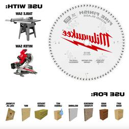 Milwaukee 12 in 80 Tooth Fine Finish Circular Table Miter Sa