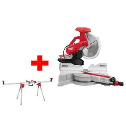 12 In. Sliding Dual Bevel Miter Saw With Folding Miter Saw S