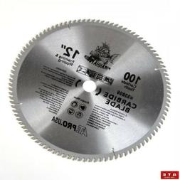 """12"""" Inch Diameter 100 Tooth Carbide Tipped Saw Blade for Mit"""