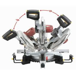 """12"""" inch Double Bevel Sliding Compound Miter Saw with Laser"""