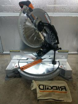 "RIDGID 15 Amp 12"" Dual Bevel Compound Miter Saw Model# R4123"