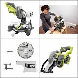 18V Cordless 7-1/4 In. Compound Miter Saw Tool Only With Bla