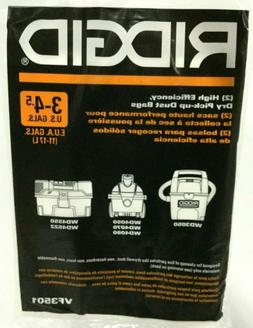 RIDGID 23738 VF3501 Wet Dry Vac High-Efficiency Dust Bags, W