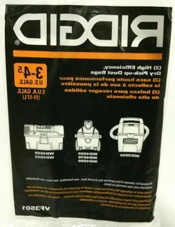 RIDGID 23738 VF3501 Wet Dry Vac High-Efficiency Dust Bags, W