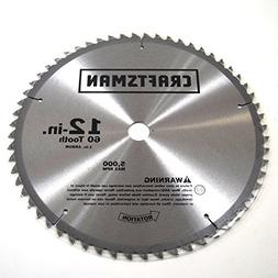 Craftsman 2QK4 Miter Saw 12-in Blade, 60-Tooth Genuine Origi