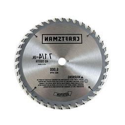 Craftsman 2S1E Miter Saw Blade, 7-1/4-in, 40-Tooth Genuine O