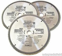 "3 ATE PRO 10"" CIRCULAR TABLE MITER SAW BLADES 100T 100 TOOTH"