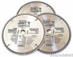 "3 ATE PRO 10"" CIRCULAR TABLE MITER SAW BLADES 80T 80 TOOTH C"