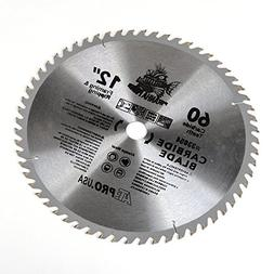 "3 New Carbide Tip Saw Blade 12"" x 60 Tooth Woodworking"