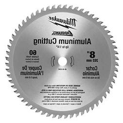 MILWAUKEE 48404540 Circular Saw Blade, Carbide, 8 In Dia, 60