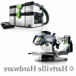 Festool 561287 KAPEX KS 120 Miter Saw and CT SYS Dust Extrac