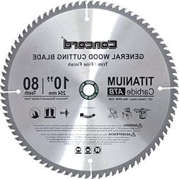 10in Concord 80-Teeth Carbide Circular/Hand/Chop Saw Blade F