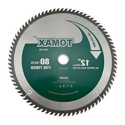 TOMAX 12-Inch 80 Tooth ATB Fine Finish Saw Blade with 1-Inch