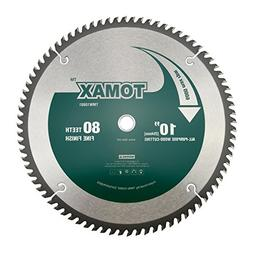 TOMAX 10-Inch 80 Tooth ATB Fine Finish Saw Blade with 5/8-In