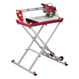 7 inch Bridge Tile Saw 1.5 HP with Miter Gauge and Splash Gu