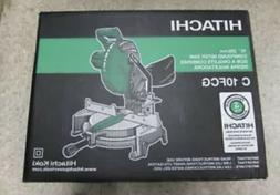 "Hitachi C10FCG 15-Amp 10"" Single Bevel Compound Miter Saw NE"