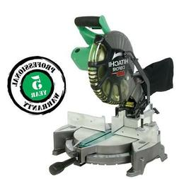"Hitachi C10FCH2 10"" Compound Miter Saw with Laser, Dust Bag"
