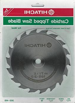 "Hitachi 7-1/4"" Carbide Tipped Saw Blade 18 Teeth 5/8"" Arbor"