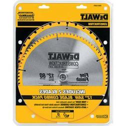 "DeWALT 12"" Circular Saw 2 Blade 80T 32T Combo Pack  - DW3128"