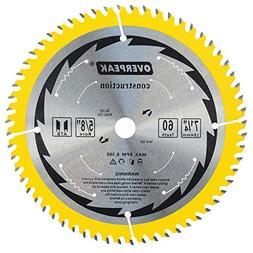OVERPEAK 7-1/4 inch circular Saw Blade, 60 Tooth ATB Fine Fi