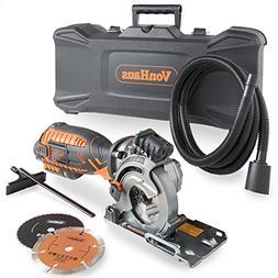 VonHaus 5.8 Amp Compact Circular Saw Kit with Laser Guide, 4