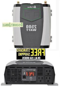 Cobra CPI2590 Gray 2500W 2.1A USB 12-Volt DC to 120-Volt AC