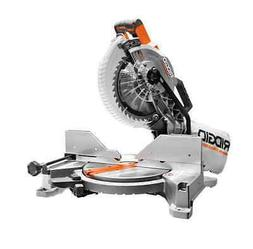 RIDGID 15 Amp 10 in. Dual Bevel Miter Saw with Laser