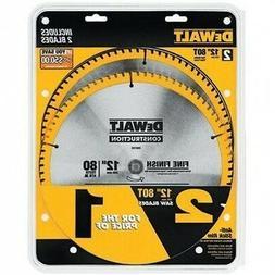 DEWALT DW3128P5D80I Series 20 12-Inch 80T Circular Saw Blade