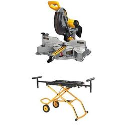 DEWALT DWS709 Slide Compound Miter Saw, 12-Inch w/ DWX726 Ro