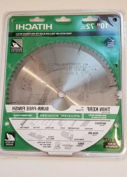 "Hitachi 10"" inch Miter Saw Blade 72 tooth 754005746424"