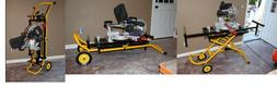 NEW DEWALT DWX726 Rolling Miter Saw Stand Heavy Duty Adjusta