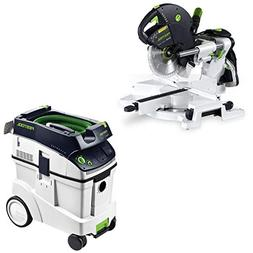 Festool KS 120 Dual Compound Sliding Miter Saw + CT 48 E Dus