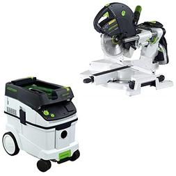 Festool KS 120 Dual Compound Sliding Miter Saw + CT 36 E Dus