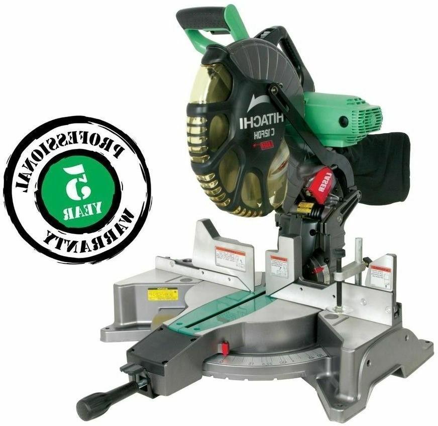 Hitachi 12-in 15-Amp Dual Bevel Saw Power Tools Equipment