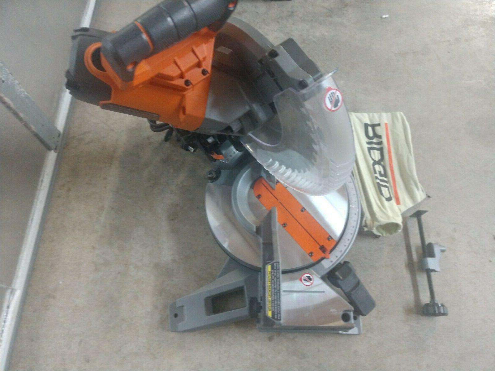 "RIDGID 15 10"" Dual Bevel Compound Saw"