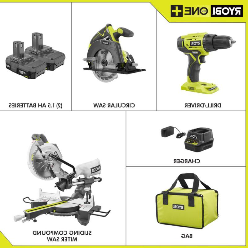 15 10 in. Sliding Compound Miter and ONE+ Drill/Driver,
