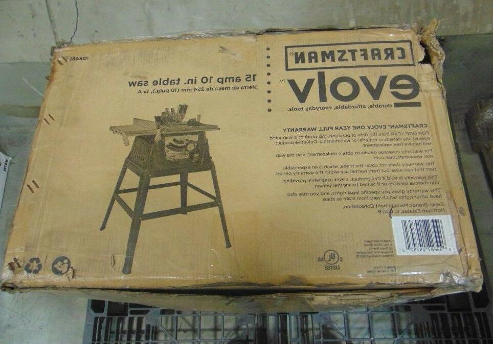 Craftsman Evolv 10 In. Table Saw 28461 Factory Sealed