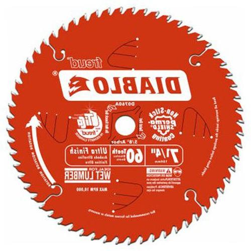7-1/4 60T Diablo Work Circular Saw D0760X