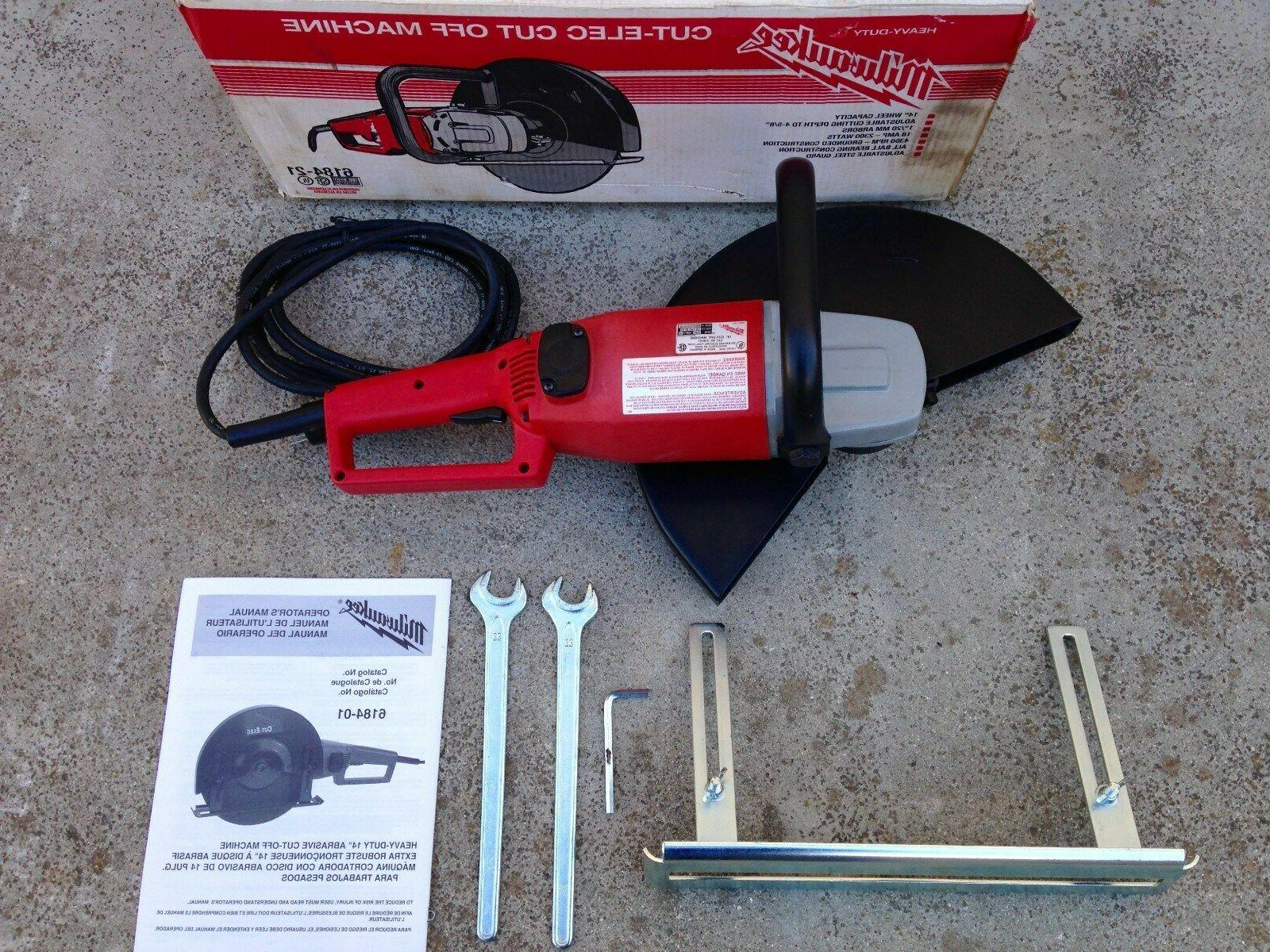 6184 14 electric hand held cut off