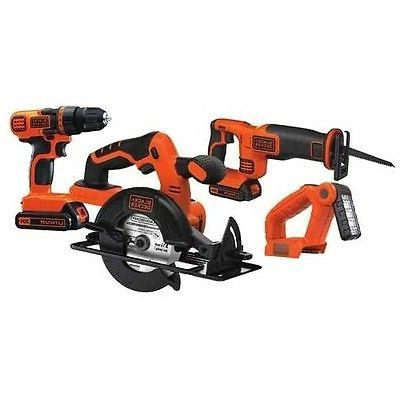 Black Decker 20V 1.5 Cordless 4-Tool Combo Kit