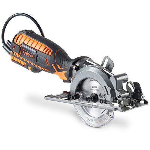 VonHaus Saw Amp with Adjustable Miter Function 45°, Dust Vacuum Hose 4x Blades