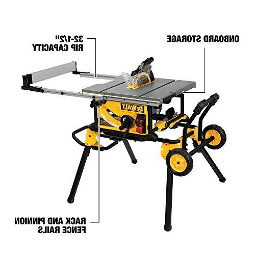 DEWALT DWE7491RS Table Saw Rip and Stand