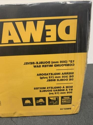 DeWALT DWS716 Corded Electric Compound Miter Saw