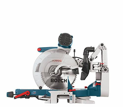 Bosch GCM12SD 120-Volt, 12-Inch Dual Bevel Saw - Saw with Woodworking and Accessories Arm For Trim Carpentry, Wood Worker