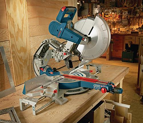 Bosch Miter Saw Dual Bevel Saw - Use Saw with and Accessories - Arm Saw For Carpentry, Worker